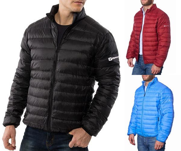 AlpineSwiss Niko Packable Light Mens Down Alternative Puffer Jacket