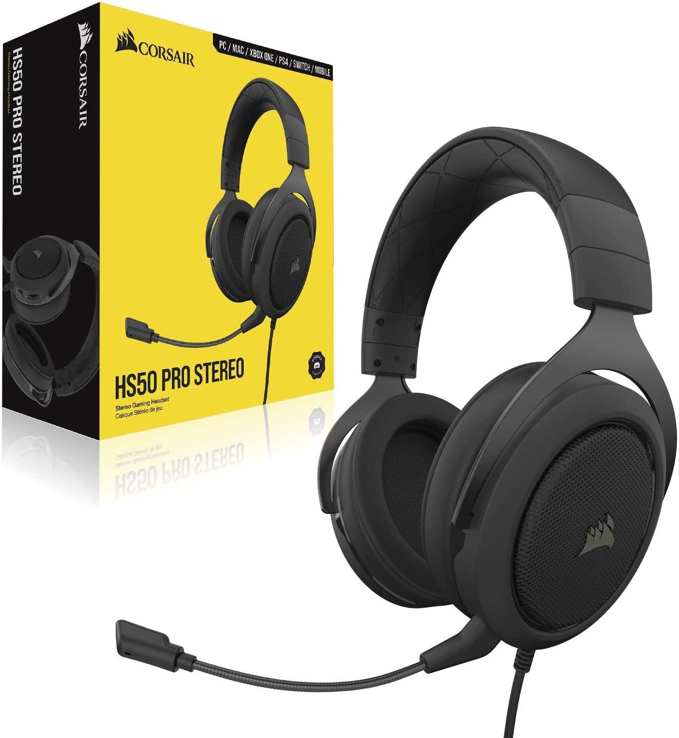 אוזניות גיימינג קורסאייר Corsair HS50 V2 Pro Gaming Headset
